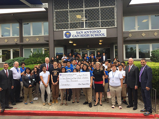 Texas Capital Bank Mobile Center Debut at San Antonio Can High School