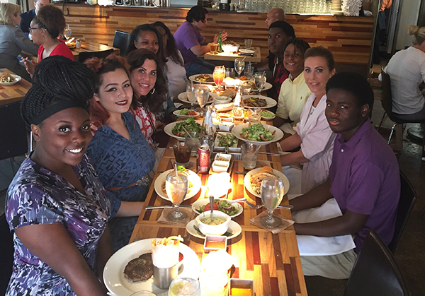 Dallas Can Academy - Ross - Students Learn Proper Table Etiquette at Mr. Mesero Restaurant