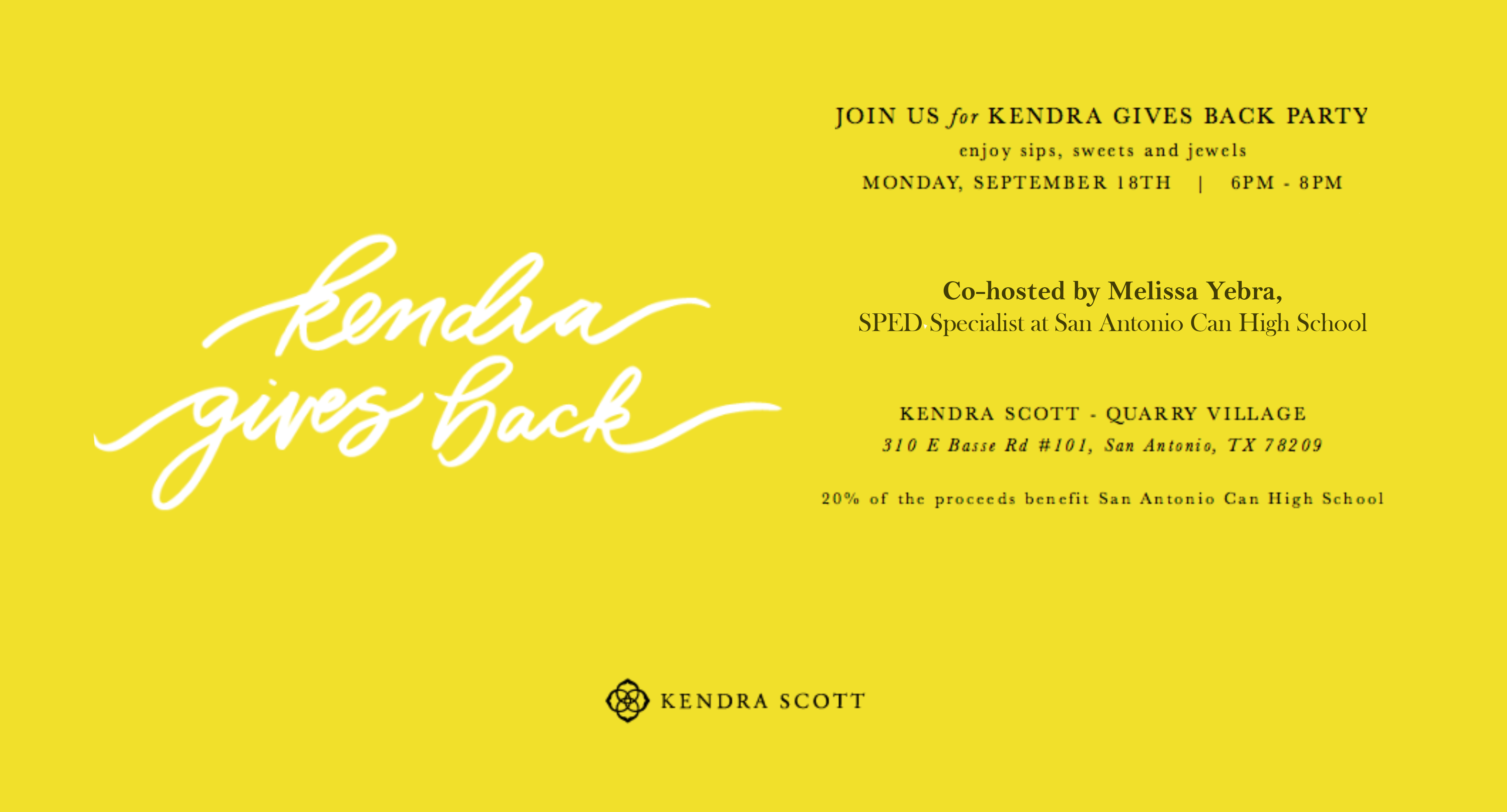 Kendra Scott Gives Back to San Antonio Can High School