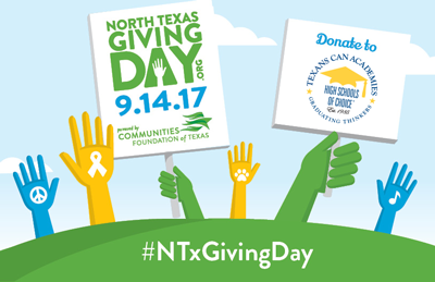 Support Texans Can Academies on #NTXGivingDay