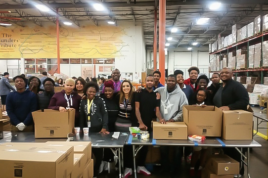 Texans Can Academy - Dallas Grant East Students Give Back with North Texas Food Bank