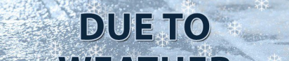 Due to inclement weather, the following campuses will be closed on Tuesday January 16, 2018.