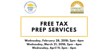 Free Tax Preparation Services at Texans Can Academy - Pleasant Grove