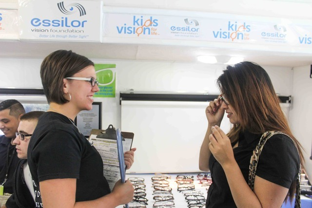 Texans Can Academy - Dallas Pleasant Grove Students Receive Free Eye Exams and Glasses
