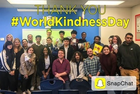 Snapchat Visits Texans Can Academies - Ross Avenue for World Kindness Day