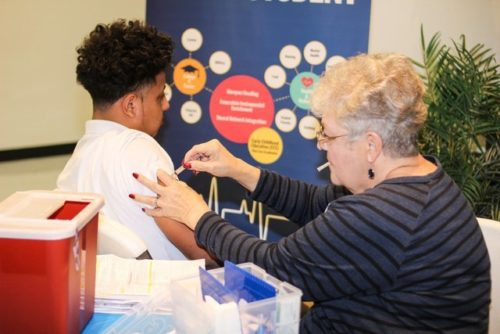 Care Van Offers Free Immunizations To Texans Can Academy - Garland High School Students