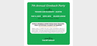 Giveback Party 2019 Benefiting Texans Can Academy - Austin