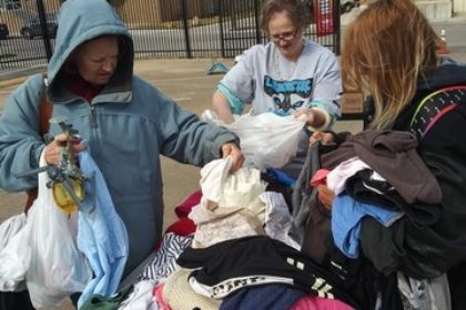 Fort Worth High School Students Arrange A Garage Sale With Free And Donated Items