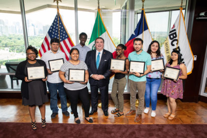 Texans Can Academy - Garland Student Receives Scholarship