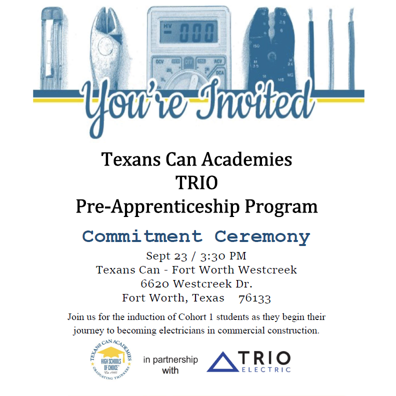TRIO Electric Apprenticeship Commitment Ceremony