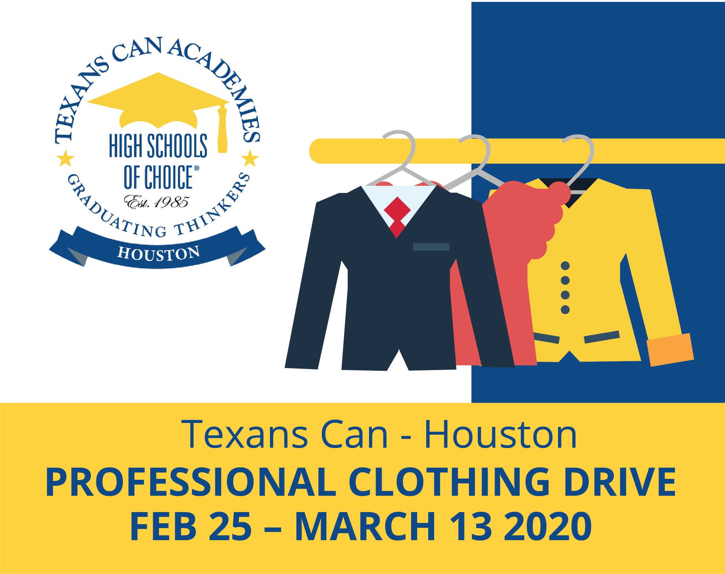 Texans Can - Houston: Professional Clothing Drive
