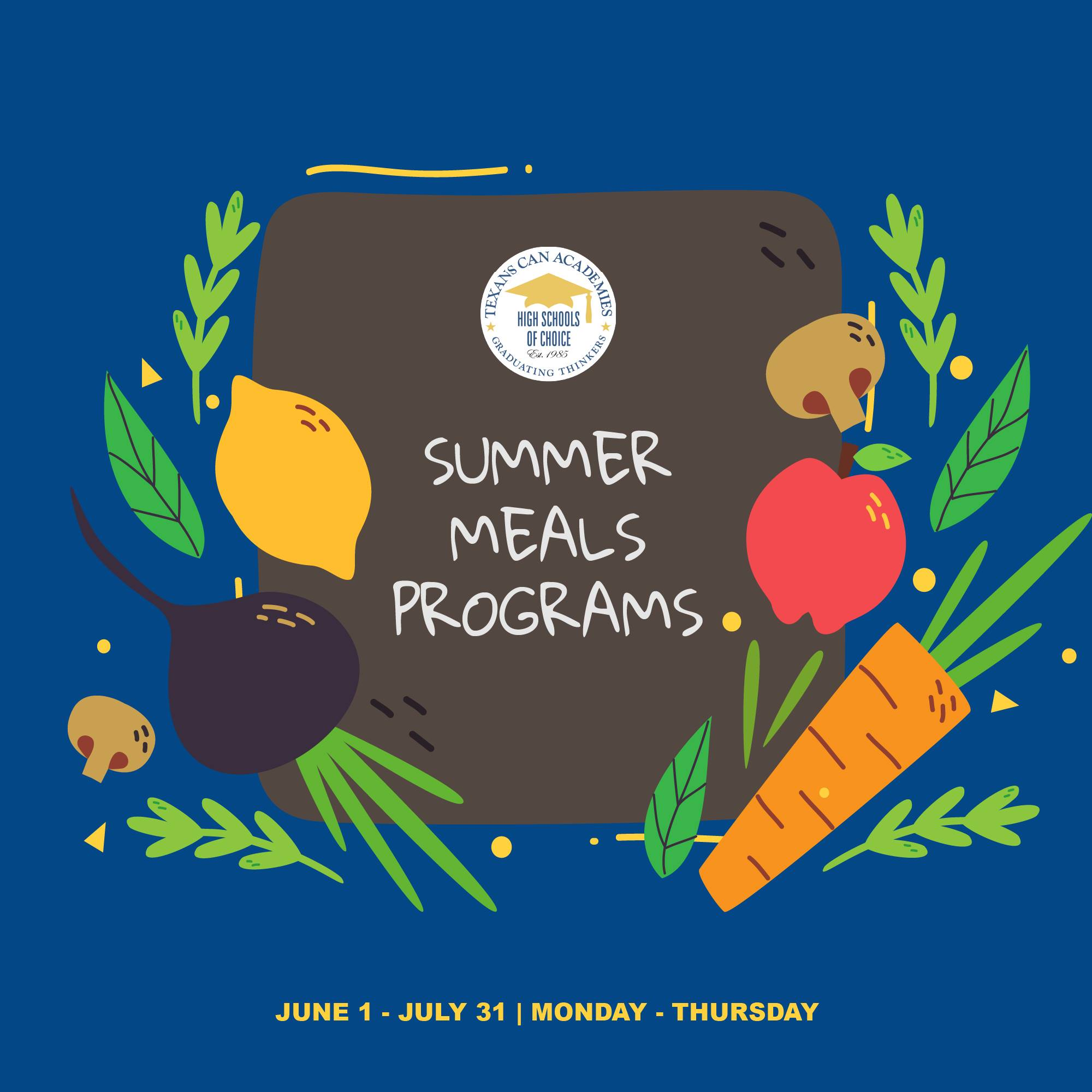 Summer Meals Program at Texans Can Academies