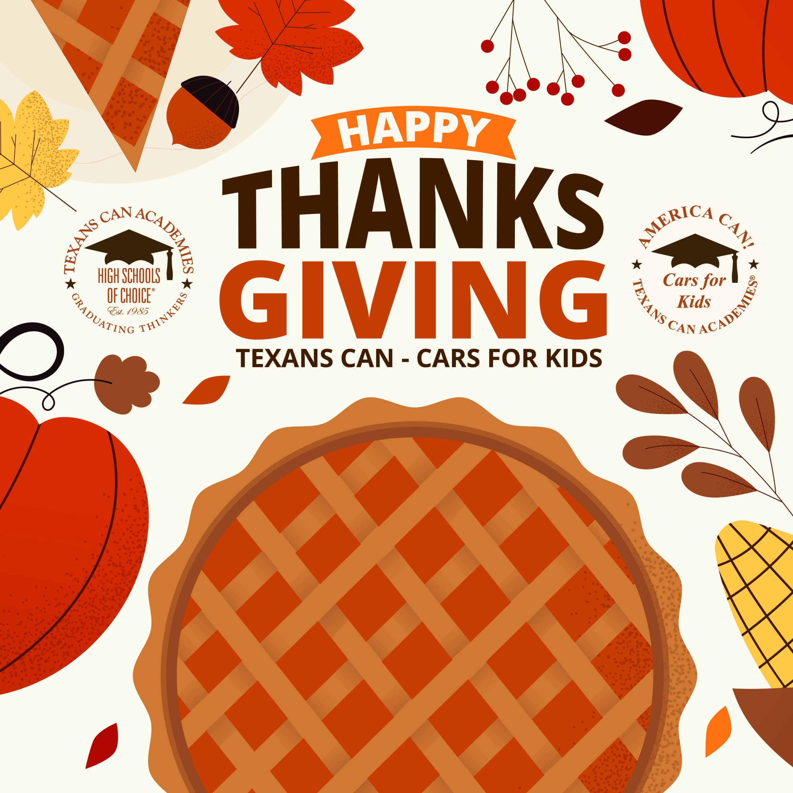 Happy Thanksgiving from Texans Can Academies