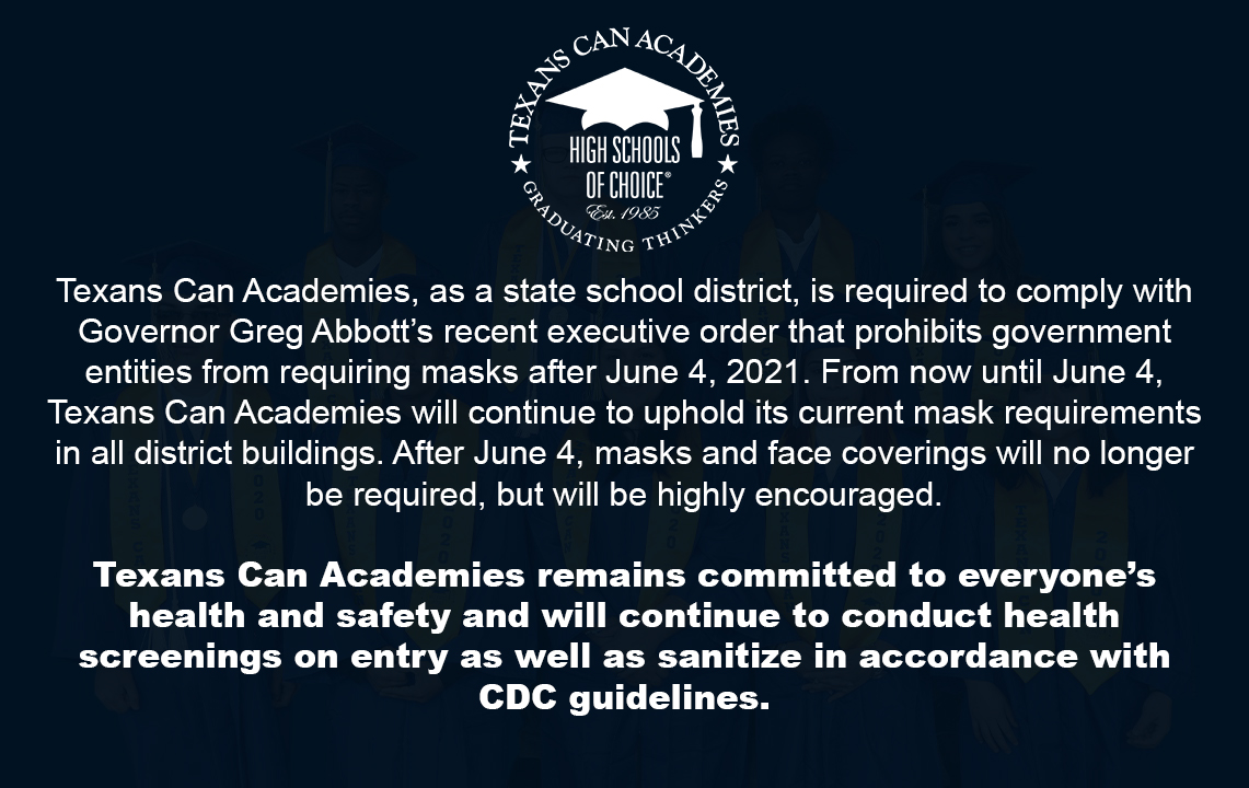 Texans Can Academies Mask and Face Covering Information