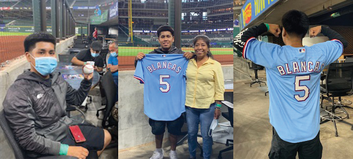 Texans Can Academies - Dallas Student Throws First Pitch Thanks to Cars for Kids